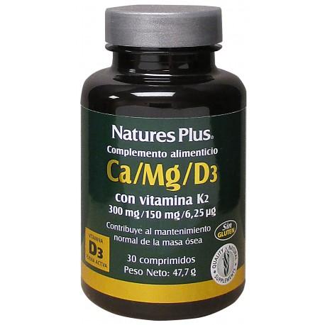Ca/Mg/D3 + K2 30 comprimidos